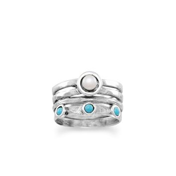 Pearl Turquoise Ring