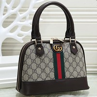 Gucci Women Fashion Pattern Leather Handbag Bag