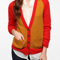 BDG Prep School Colorblock Cardigan