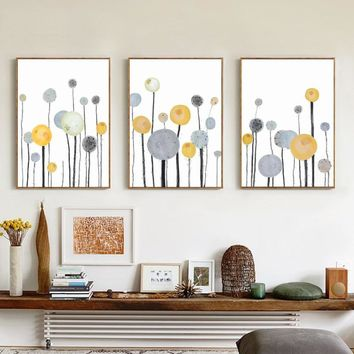 NUOMEGE Modern Simple Abstract Tree Canvas Painting Pictures Nordic Wall Canvas Pictures for Living Room Poster Art