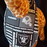 Reversible San Francisco 49ers/Oakland Raiders NFL Print Baby Bib- Toddler size *Wider Size*