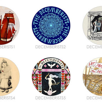 The Decemberists | Castaways and Cutouts Picaresque The Crane Wife Her Majesty The King is Dead Buttons Pins Badges Pinback