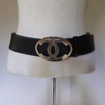 AUTH CHANEL belt, size 85