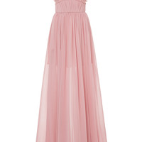 Gathered Bodice Long Dress | Moda Operandi