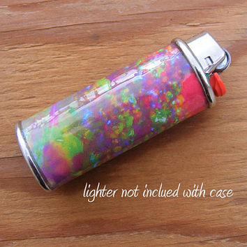 LIGHTER CASE Fire Opal - Metal, Waterproof, Heavy duty