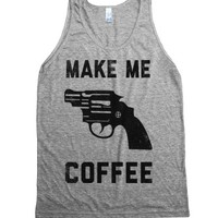 Make Me Coffee (Vintage Tank)-Unisex Athletic Grey Tank