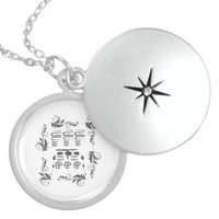 Tohwang oriental amulet round locket necklace