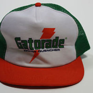 Vintage 70s 80s Rare Gatorade Sports Drink Snapback Throwback Trucker Hat  Cap 6ff660a9313