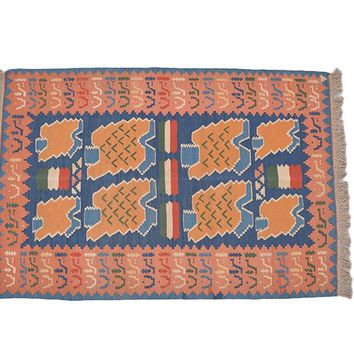 "Turkish Kilim Turkish 3' 6"" X 5' 3"" Handmade Rug"