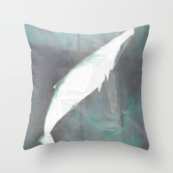 Whale no. 1 Throw Pillow by Marie-Pier Cadorette