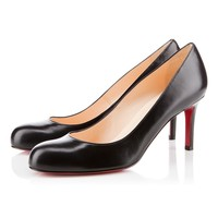 Best Online Sale Christian Louboutin Cl Simple Pump Black Leather 70mm Stiletto Heel Classic