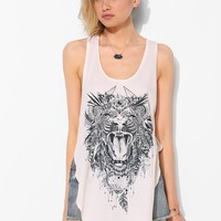 LIFE Boho Tiger Racerback Tank Top - Urban Outfitters