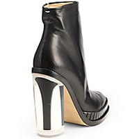 Maison Martin Margiela - Leather Plexi-Heel Ankle Boots - Saks Fifth Avenue Mobile