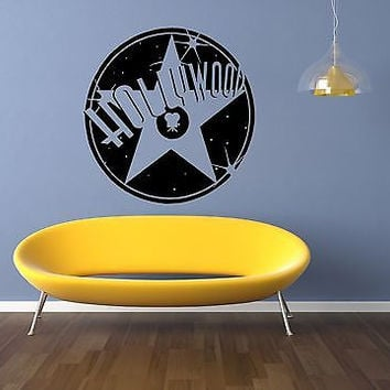 Hollywood Wall Decal Hollywood Sticker Movie Star Room Living Room Decor 3730