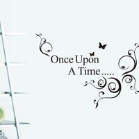 Quote Once Upon A Time Letter Wall Sticker
