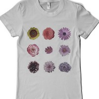 Knolling Flowers-Female Silver T-Shirt