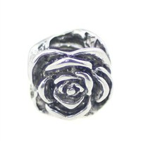 Beads Hunter 925 Sterling Silver Rose Charm Fit Pandora Bracelets