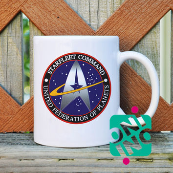 Star Trek Star Fleet Logo Coffee Mug, Ceramic Mug, Unique Coffee Mug Gift Coffee