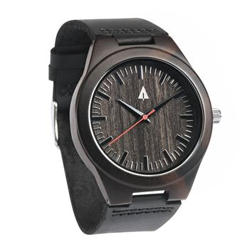 Wooden Watch // Theo Red Small