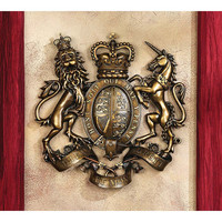 Park Avenue Collection Royal Coat Of Arms Of Britain Plaque