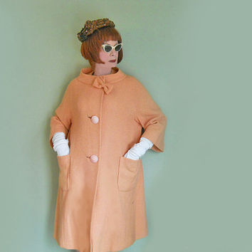 Vintage 50s New Look Spring Coat - 1950s Full Cut Coat