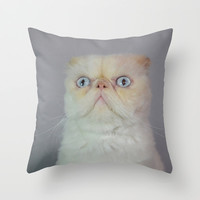 Lord Aries Cat Throw Pillow by AFrancisconi