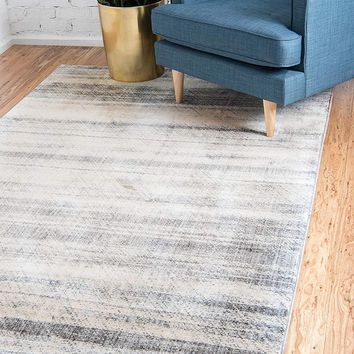 0153 Gray Distressed Contemporary Area Rugs