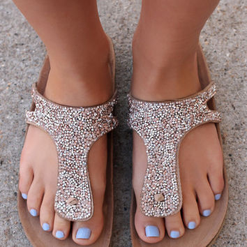 Diamond in the Rough Sandal - Beige