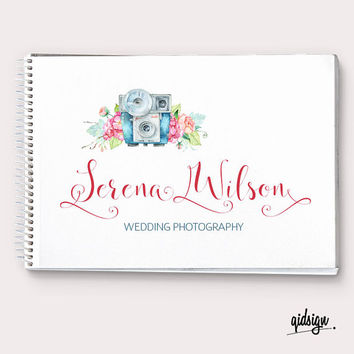 Custom Logo, Premade Logo , Camera Logo, Calligraphy Logo, Floral Logo, Watercolor, Wedding Logo