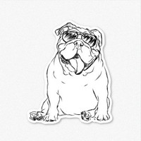 Tank - English Bulldog- Decal Sticker