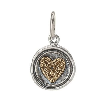 Waxing Poetic Wing & A Prayer Heart Petite Charm