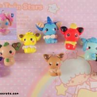 Pokemon Eevee Evolutions Chibi Kawaii Charms Set (Now with Sylveon)
