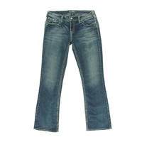Silver Jeans Co. Womens Aiko Mid-Rise Curvy Bootcut Jeans