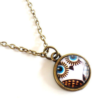 Owl Necklace Yoga Jewelry Bohemian Wisdom Protection Spiritual Mothers Day Earthy Etsy Unique Gift For Her Under 20 Item E12