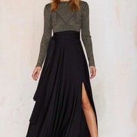 Wildfire Maxi Skirt - Black
