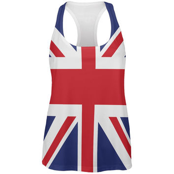 British Flag Union Jack All Over Womens Work Out Tank Top