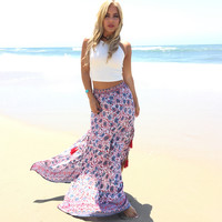 Independence Day Tassel Maxi Skirt