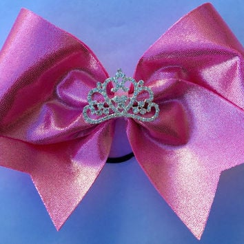 Cheer Bow - Pink Princess Crown