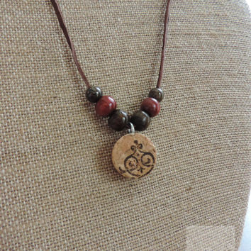 Wine cork necklace Gifts for her Unique necklace Bridesmaid gift Thank you gift Vineyard wedding (N020)