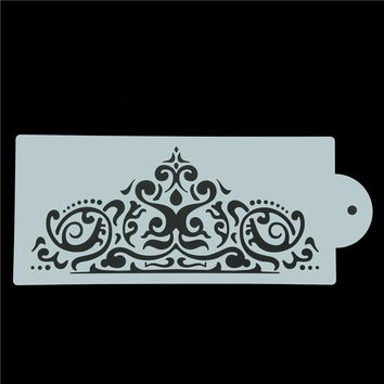 Crown King Princess Queen Cake Stencil Frostings Spray Stencils Fondant Cake Decoration Template Mold Baking Tools