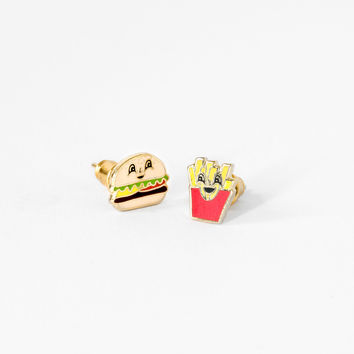 YELLOW OWL WORKSHOP BURGER AND FRIES EARRINGS