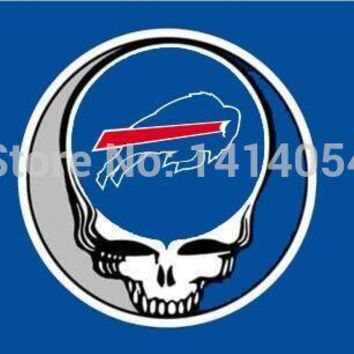 Buffalo Bills  Stealing Your Face  flag150X90CM Banner 100D Polyester flag brass grommets 001, free shipping