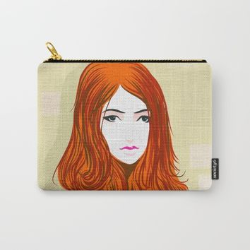 Orange Girls Carry-All Pouch by dhiazkaosy