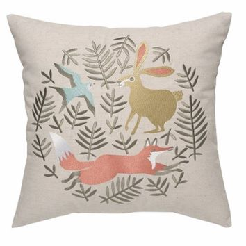 Hill and Dale Embroidered Pillow
