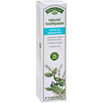 Nature's Gate Natural Toothpaste Creme De Peppermint - 6 Oz - Case Of 6