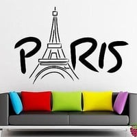 Wall Stickers Vinyl Decal Eiffel Tower Paris France Europe Travel Decor z1586