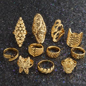 11 Styles!! Newest Arab Wedding Ring for Women Men,Gold Color Ethiopian Ring/African/Eritrea Jewelry/Nigeria/Mama Gift