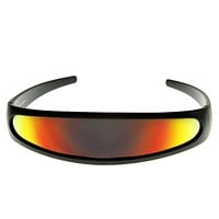 Retro Futuristic 1980's Disco Wrap Around Space Sunglasses 8964