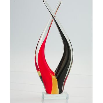 Abstract Hand-Blown Art Sculpture