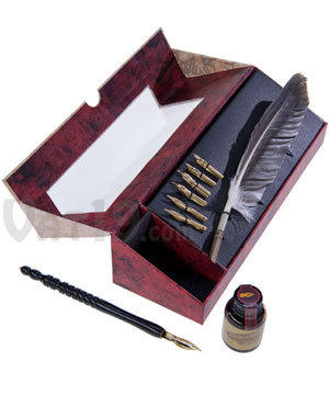 Feather Pen Set: Feather quill, wood pen, from Vat19 | Shoes👠Quill And Ink Store